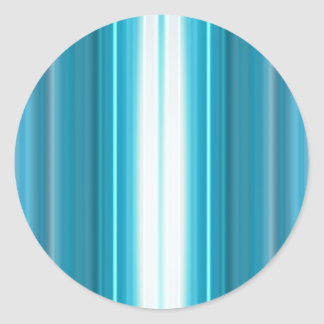 Vertical Color Stripes Classic Round Sticker
