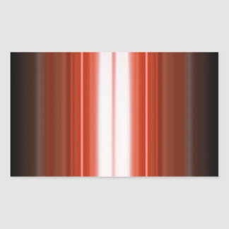 Vertical Color Stripes Rectangular Sticker