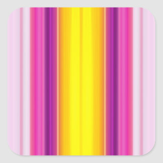 Vertical Color Stripes Square Sticker