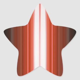 Vertical Color Stripes Star Sticker