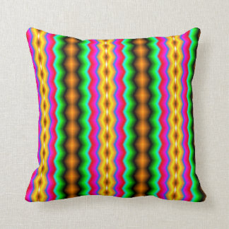 Vertical colorful line pattern cushion
