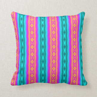 Vertical colorful pattern cushion