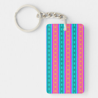 Vertical colorful pattern Double-Sided rectangular acrylic keychain