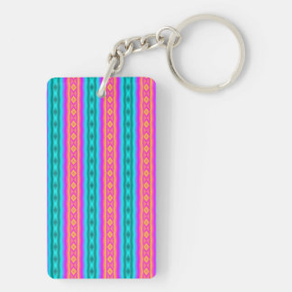 Vertical colorful pattern acrylic keychain