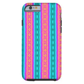 Vertical colorful pattern tough iPhone 6 case