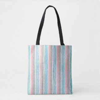 Vertical Colorful Stripes Tote Bag
