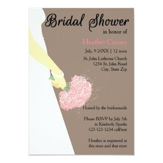 Vertical Dress & Bouquet -Bridal Shower Invite