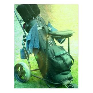 Vertical Golf Caddie Postcard