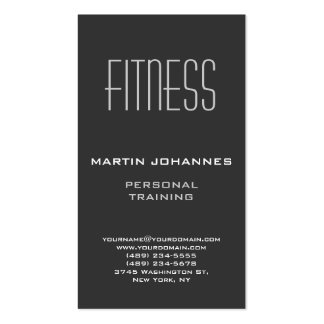 Vertical Grey Personal Trainer Business Card