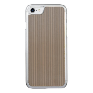 Vertical Grey Stripes Pattern Carved iPhone 8/7 Case