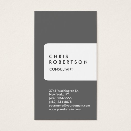 Vertical Grey White Stripe Business Card