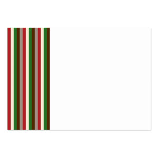 Vertical Holiday Stripes Business Card