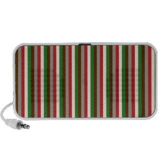 Vertical Holiday Stripes Doodle Portable Speakers