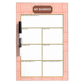 Vertical Horizontal Lines Business Dry Erase Board