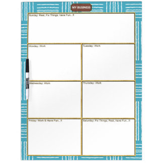 Vertical Horizontal Lines Dry Erase Large Board
