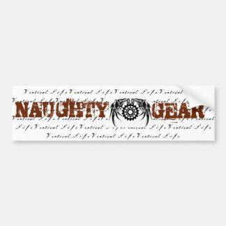 Vertical Life Naughty Gear Sticker Bumper Sticker