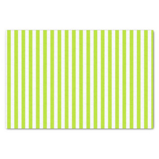 Vertical Lime Green and White Stripes Tissue Paper
