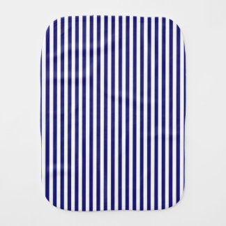 Vertical Midnight Blue Stripes Burp Cloth
