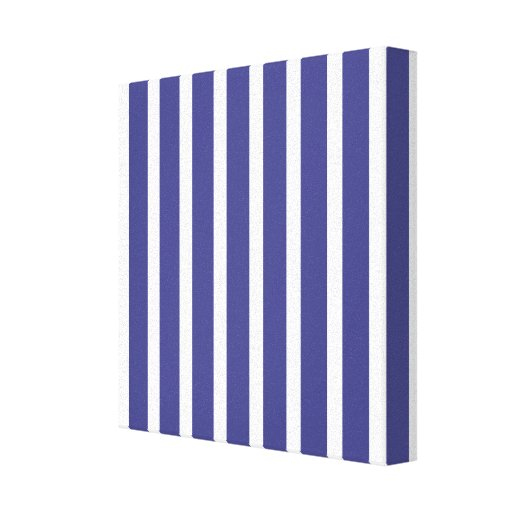 Vertical Nautical Stripes Stretched Canvas Print