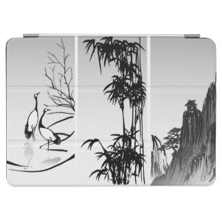 Vertical Oriental Scroll iPad Air Cover