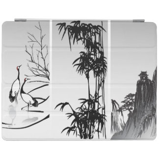 Vertical Oriental Scroll iPad Cover