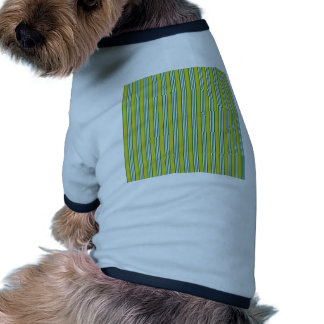 vertical parallel lines background green stripes doggie tee shirt