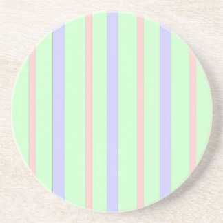 Vertical Pastel Stripes Coaster