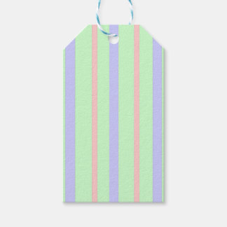 Vertical Pastel Stripes Gift Tags