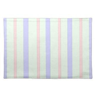 Vertical Pastel Stripes Placemat