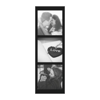 Vertical photo collage canvas print