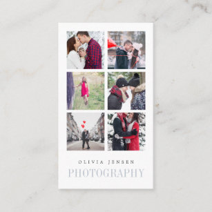 Photo collage business cards business card printing zazzle uk vertical photo collage photographer business card colourmoves