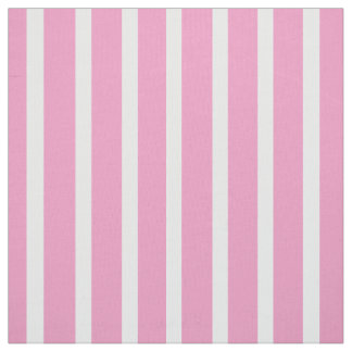Vertical Pink and White Striped Fabric