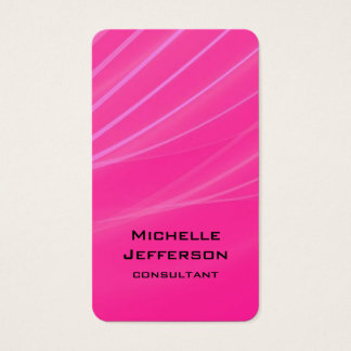 Vertical Pink Purple Abstract Modern Style Trendy Business Card