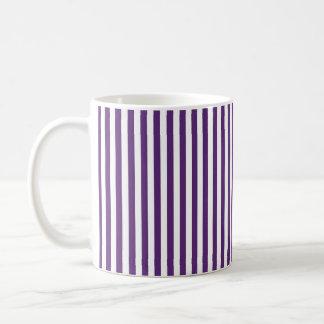 Vertical Purple and White Stripes Coffee Mug