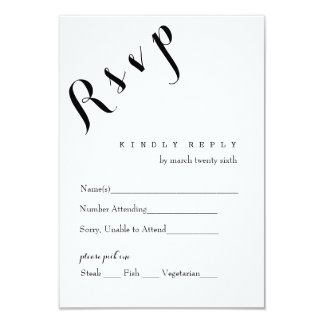 Vertical R S V P Card 9 Cm X 13 Cm Invitation Card