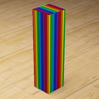 Vertical Rainbow Wine Gift Box