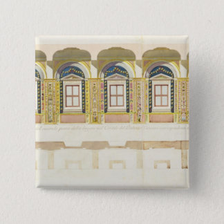 Vertical section of the second floor of the Raphae 15 Cm Square Badge