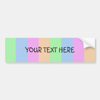 Vertical Semi-Transparent Tetrade Bumper Sticker