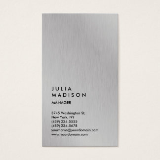 Vertical Silver Gray Trendy Manager Consultant