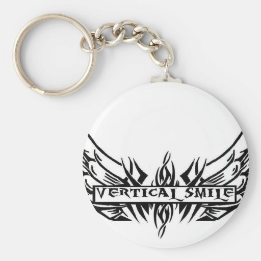 Vertical Smile Key Chain