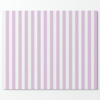 Vertical Soft Purple and White Stripes Wrapping Paper