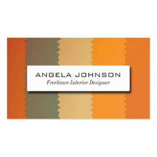 Vertical Stripe Pack Of Standard Business Cards