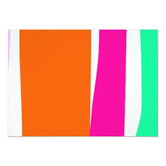 Vertical Stripes 13 Cm X 18 Cm Invitation Card