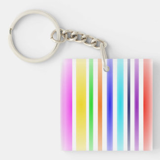 Vertical Stripes Art Double-Sided Square Acrylic Key Ring