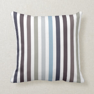 Vertical Stripes - Beaver Cushion
