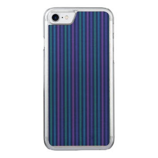 Vertical Stripes Blue Green Purple Carved iPhone 8/7 Case