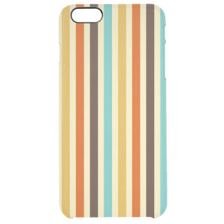 Vertical Stripes Retro Colors Blue Yellow Red Clear iPhone 6 Plus Case