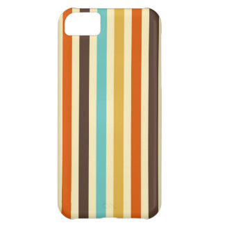 Vertical Stripes Retro Colors Blue Yellow Red iPhone 5C Case