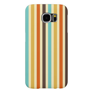 Vertical Stripes Retro Colors Blue Yellow Red Samsung Galaxy S6 Cases