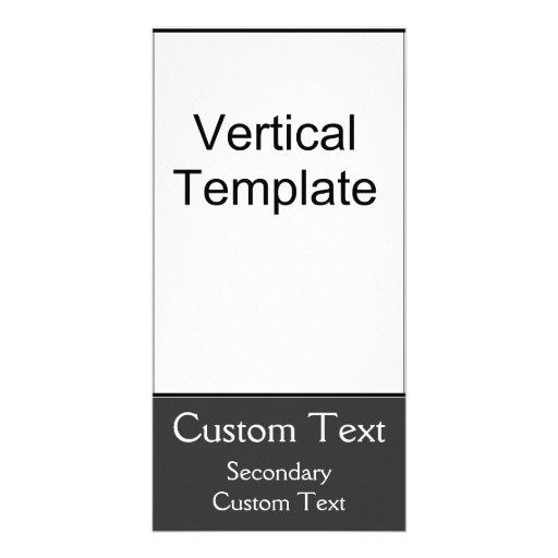 Vertical Template Photo Card